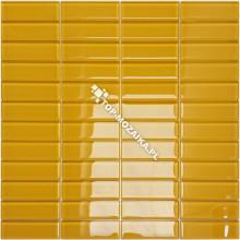 Mozaika Szklana Żółta Cegiełka B 30x30