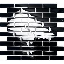 Mozaika Szklana Czarna Cegiełka A  30x30
