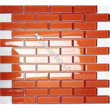 Mozaika Szklana Arancione Cegiełka A  30x30