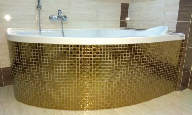 Mozaika Szklana Złota