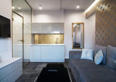 mozaika szklana w apartamencie 2