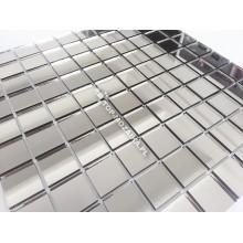 Mozaika Szklana Srebrna Mirror