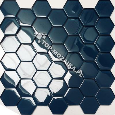 Mozaika Szklana Heksagon Niebieska 48