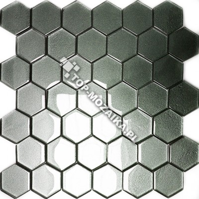 Mozaika Szklana Heksagony Grafit 48