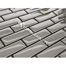 Mozaika Szklana Srebrna Metalic Cegiełka A 30x30