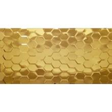 Płytka ceramiczna złota metalizowana heksagon 30x60