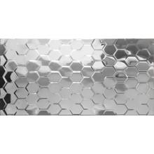 Płytka lustrzana 3D srebrna heksagon 30x60