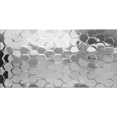 Płytka ceramiczna srebrna heksagon 30x60