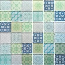 Mozaika szklana Patchwork Green 30x30