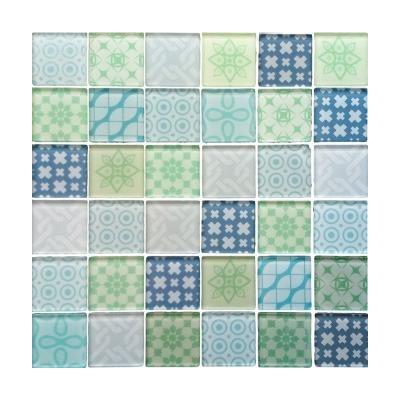 Mozaika szklana Patchwork Blue 30x30