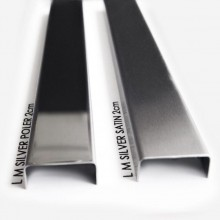 Listwa metalowa ozdobna srebrna poler, satyna 1,5x244