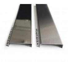 Listwa metalowa ozdobna srebrna poler, satyna 3x244