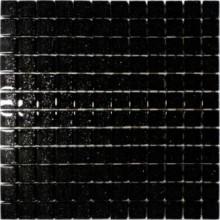 Mozaika szklana czarna z  brokatem 30x30