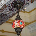 lampa z mozaiki
